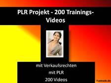 @@@ 200 Trainingsvideos fürs Vollzeit online Geld verdienen mit PLR Rechten @@@