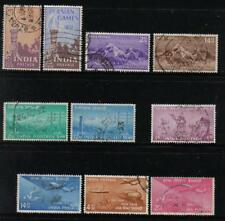 INDIA 1951-54 SELECTION OF 4 COMPLETE SETS 10 STAMPS SCOTT #233/251 USED