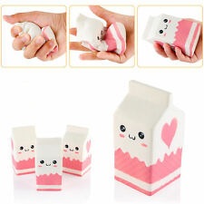 Squishy Milk Carton Phone Straps Slow Rising Cute Stress Reliever Bread Kids TOY