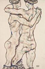 Naked Girls Embracing Egon Schiele Umarmen Nackte Frauen Körper Rück B A3 01619
