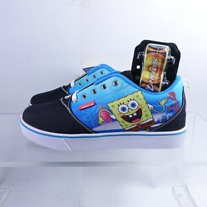 Size 13 Men's Heelys Pro 20 Prints Spongebob Rolling Shoe HES10361M Black/Yellow