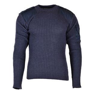 Original British army pullover Commando Jumper Blue Grey sweater Wool