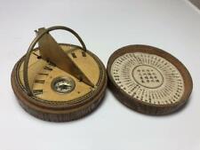 Japanese portable sundial clock compass Meiji to Taisho era watch Antique
