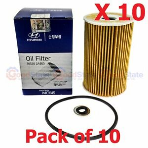 GENUINE KIA SPORTAGE 2014-ON 1.7L Diesel Oil Filter With Drain Oring Pack of 10