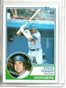 1983 TOPPS STEVE YEAGER (NM/MT OR BETTER) //