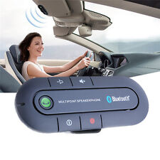 Magnetic Bluetooth Handsfree In Car Phone Kit Wireless Visor Speaker Charge Set