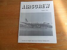 AIRSCREW JANUARY 1974 SOC. OF ANGLO-AMERICAN AVIATION ENTHUSIASTS