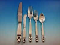 Acorn by Georg Jensen Sterling Silver Flatware Set For 8 Service 40 Pieces