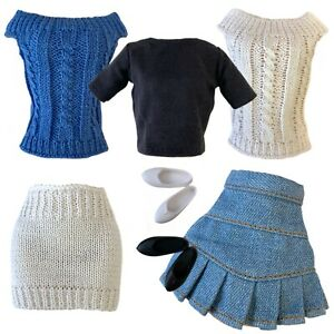 """10"""" 11"""" Doll Clothes Fashion Pack Knit For Petite Doll Skipper Blythe Model Muse"""