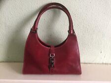 Authentic vintage Gucci Jackie oxblood red leather shoulder bag + dust bag