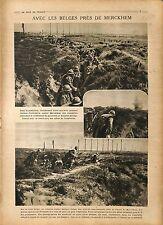 Infanterie Merckem Fantassins Belgique/Bataille de Cantigny US Army War 1918 WW