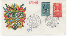 FRANCE 1966.F.D.C.EUROPA C.E.P.T.OBLIT:LE 24/9/66 STRASBOURG. CONSEIL DE L'EUROP