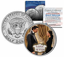 "Gone with the Wind ""Rhett & Scarlett"" JFK Kennedy Half Dollar Coin *Licensed*"
