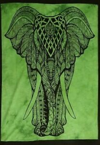 Tapestry Tie Dye Front Face Elephant Cotton Poster Wall Hanging Boho Dorm Decor