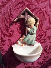 "Goebel Hummel Angel Praying Holy Water Wall Pocket #147 W Germany 5 1/4"""