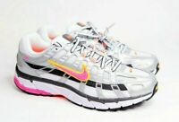 Nike Women's P-6000 BV1021 100 Metallic Silver Laser Fuchsia Running Shoes