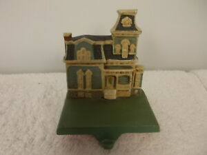 Vtg Midwest of Cannon Falls Iron Christmas Holiday House Stocking Holder Hanger