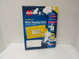 Avery 16791 White Shipping Labels 1250 Labels, 125 Sheets