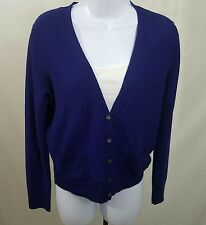 Eileen Fisher Royal Blue Light Weight Button Down Cardigan Size Small