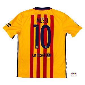 Barcelona 2015/16 Away Soccer Jersey Medium Lionel Messi Nike La Liga