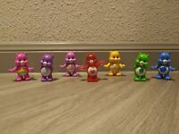 "TCFC JP Care Bears 3"" Mini Figures Lot Of (7) Includes Rare Crystal Secret Bear"