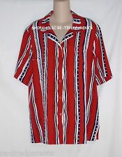 ALFRED DUNNER – SHIRT - BLOUSE – RED - WHITE - BLUE – VERTICAL STRIPES - SIZE 16