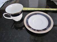 Noritake Legendary Crestwood Cobalt Platinum 4170 cup saucer tea coffee set nice