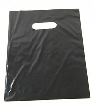 "100 9"" x 12"" BLACK  GLOSSY Low-Density Plastic Merchandise Bags"