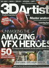 3D ARTIST, ISSUE, 2012 NO. 44 ( UNMASKING THE AMAZING VFX HEROES) PRINTED IN UK