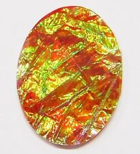 4 of 40x30 mm Red Hot Ice Acrylic Faceted Faux Opal Beautiful Cameos Cabochon