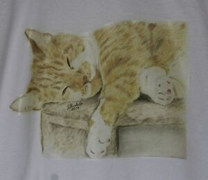 Cat T-Shirts Baby Children and Adult Sizes Different Drawn Designs