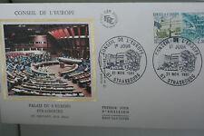 ENVELOPPE PREMIER JOUR SOIE - 1981 - CONSEIL DE L'EUROPE
