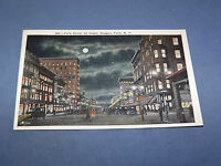 VINTAGE FALLS STREET AT NIGHT NIAGARA FALLS  NEW YORK   POSTCARD