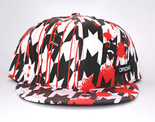 OFFICIAL LIMITED 7 & 5/8 NWT BRAND NEW HOUNDSTOOTH WARS HAT BLACK & WHITE & RED