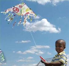 Kite White Peace Signs Fringe Delta Winder & String.7. Pr 17109