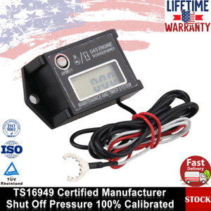 Waterproof Digital Inductive Tachometer Tiny Digital Hour Meter Tachometer US
