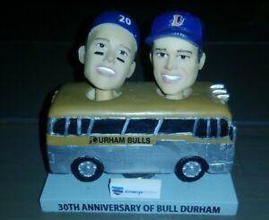 Bull Durham 30th Anniversary Durham Bulls Bus SGA Bobblehead Rare!
