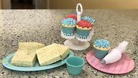 American Girl Doll Baking Treats Cupcakes Holder Rice Krispie Treats Frosting Tu