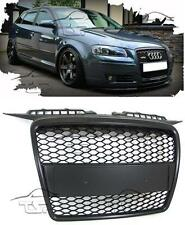 FRONT BLACK GRILL FOR AUDI A3 8P 05-08 SPORT LOOK SPOILER BODY KIT NEW GRIGLIA