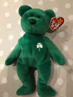 TY Beanie Babies Collectable Erin Bear with Tag 220mm Tall Listing Irish Ireland