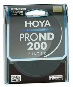 Genuine Hoya 58mm Pro ND200 Filter. Multi-Coated Glass. 7 Stop Neutral Density