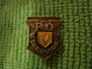 REO Motors 5 Year Sterling Service Pin