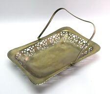 Vintage Old Flower basket – Temple Décor Silver plated holy basket. G23-109 US