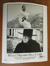 Vtg Glossy Press Photo Cuba Gooding Jr. & Max Von Sydow in What Dreams May Come
