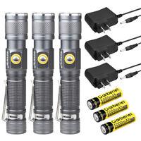 Garberiel 90000Lumens T6 LED 18650 Rechargeable Flashlight Zoom Torch w/ Battery