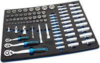 Steckschlüssel Satz 80-tlg Werkzeug Wagen Set Werkstattwagen Schaumstoff Einlage