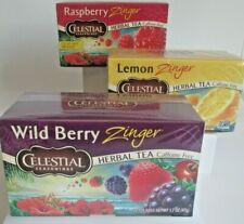 "Lot 3 Celestial Seasonings Herbal Tea ""Wild Berry"" ""Lemon"" & ""Raspberry"" Zingers"