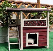 Cat House for Outdoor Cats Condo Pet Shelter Weatherproof Home Furniture