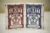 Liberty Pinochle Jumbo Playing Cards Set of 2 Deck brand new