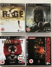 4 X PS3 Games-Rage+Dishonored+Homefront+ Metal Gear Solid 4  PS3 Bundle (52)